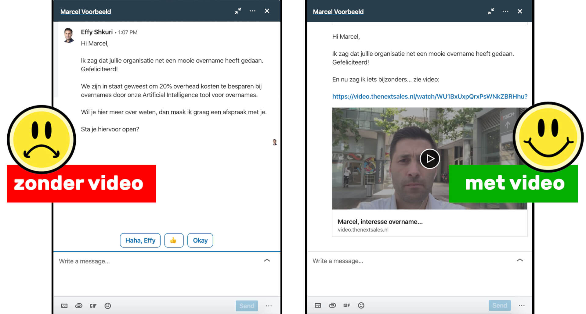 Linkedin video prospecting voorbeeld
