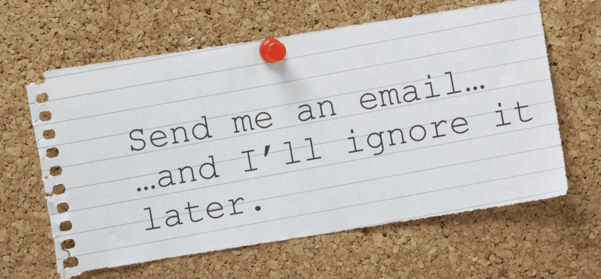 Emails worden niet geopend